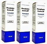 READY-TO-USE ENEMA - 128ml Phosphates Enema Formula B - by Chemidex Pharma Ltd t/a Essential Generics (3 Pack)