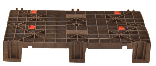Fast Lock FLP-02-003 HDPE Recycled Plastic Adaptable, Interlocking Pallet and Storage System (Pack of 2)