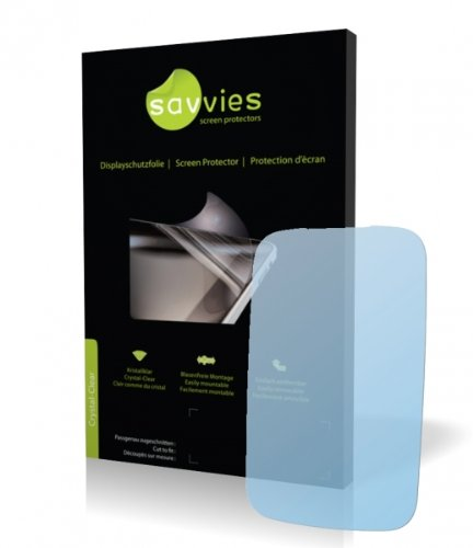 Savvies Crystalclear Screen Protector for Motorola Spice, Protective Film, 100% fits, Display Protection Film