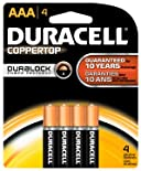 Duracell Batteries, Alkaline, AAA 4 batteries