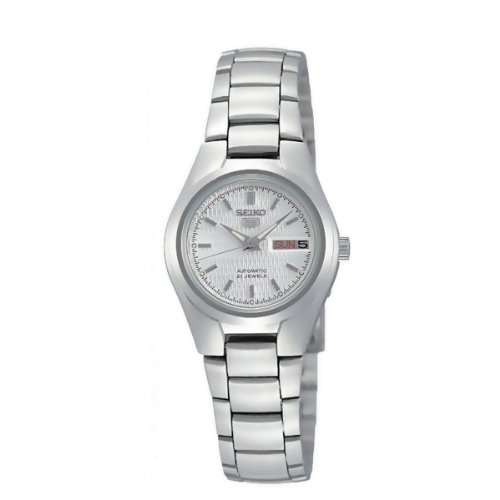 Seiko Women's SYMC07K Silver Stainless-Steel Automatic Watch with Silver Dial
