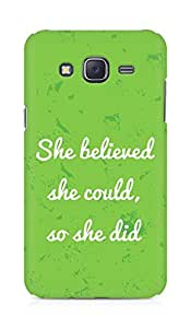 AMEZ she believed she could so she did Back Cover For Samsung Galaxy J5