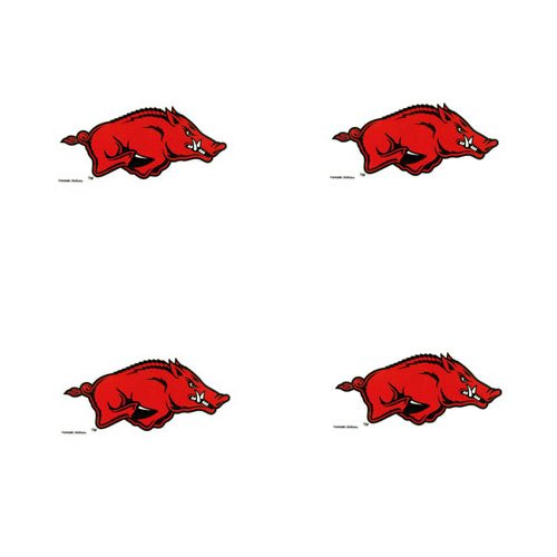 Arkansas Razorbacks Temporary Tattoos 1-3/8 IN. x 1/2 IN. at Amazon.com