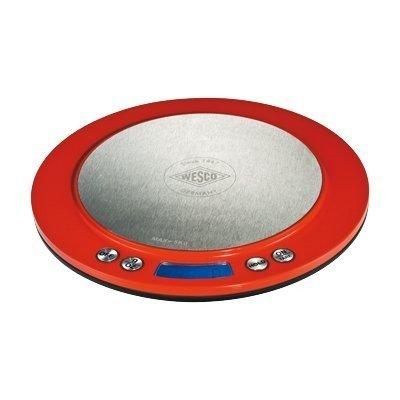 Balance digitale ecran lED à 1 g près, balance de ménage wESCO, rouge
