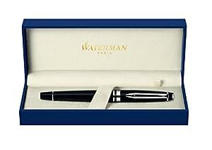 Waterman S0951760 Expert Stylo plume Attributs chromés Noir
