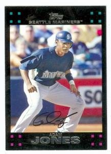 Adam Jones baseball card (Mariners Baltimore Orioles star) 2007 Topps #UH 18 Rookie Card
