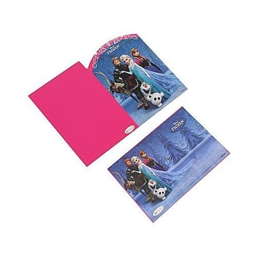 Disney Frozen Birthday Invitation Cards & Envelopes Pink , Frozen Birthday Theme Party Supplies
