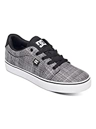 DC Men\'s Anvil TX SE Skateboarding Shoe, Grey Heather, 9.5 M US