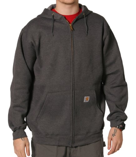 Carhartt K122 Hooded Sweatshirt Charcoal Grey Mens Hoodie