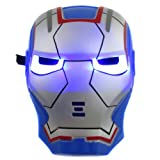 New Blue Iron Man Mask with LED Light-up Eyes thumbnail
