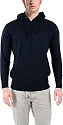 vibgyor Men's Cotton Sweatshirt (VSWFQBLWOBN_42, Black, 42)