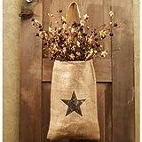 Vintage Hanging Burlap Bag - Vintage Star (8-in x 12-in)