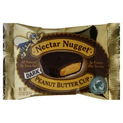 Natural Nectar Nugget, Dark Chocolate  Peanut  Butter Cup, 1.12-Ounce (Pack of 24)