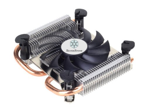 Silverstone Tek Super Low Profile CPU Cooler for Intel Socket LGA115X with 80mm Fan and 2x Copper Heat Pipes (Silverstone Cpu Cooler compare prices)