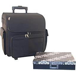 Everything Mary Rolling Scrapbook Tote with Paper Box, Black by Everything Mary