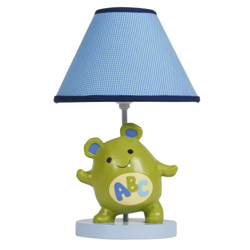 Lambs & Ivy Lamp with Shade and Bulb, Alpha Baby - 1