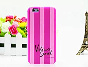 Accessories Innovator luxury Victoria / secret pink soft silicone rubber stripes girly fashion case for iphone 6S 6