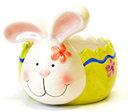 Ceramic Easter Bunny Egg Table Decor