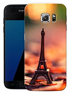 "Paris Eiffel Tower Hazy Printed Designer Mobile Back Cover For ""Samsung Galaxy S7 Edge"" (3D, Matte, Premium Quality Snap On Case)"