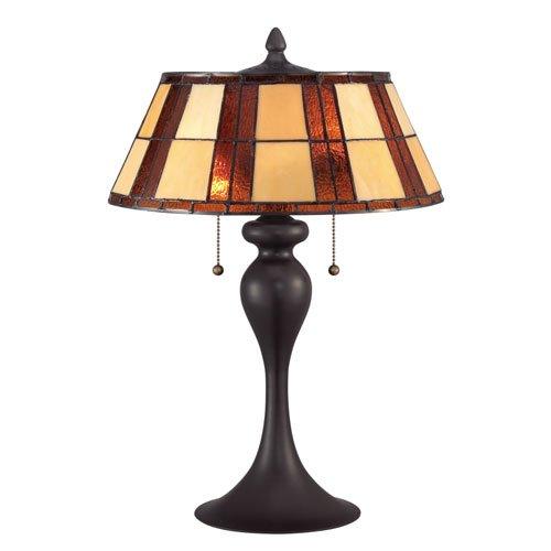 Quoizel tf1605twt tiffany redding with western bronze for Zara floor lamp bronze
