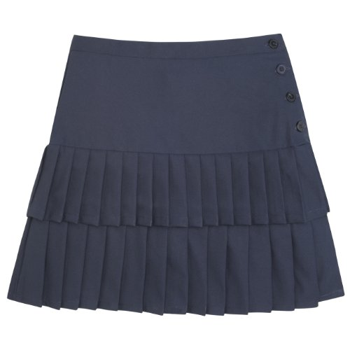 French Toast School Uniforms Double Pleated Scooter Girls navy 10