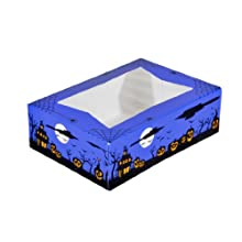Southern Champion Tray 2470 Paperboard Halloween Design Print Window Bakery Box, 8&#034; Length x 5-3/4&#034; Width x 2-1/2&#034; Height (Case of 200)