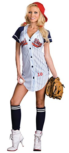 Dreamgirl Womens Grand Slam Baseball Stretch Outfit Fancy Dress Sexy Costume