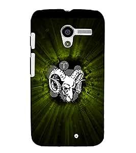 EPICCASE Grumpy Goat Mobile Back Case Cover For Moto X (Designer Case)