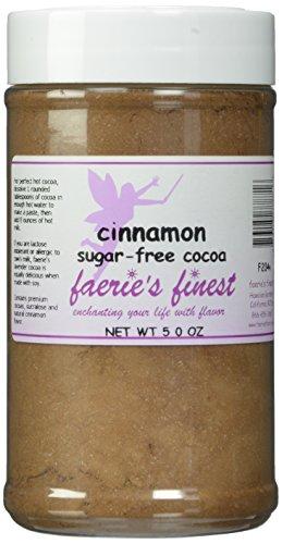 Faeries Finest Sugar-Free Cocoa, Cinnamon, 5 Ounce