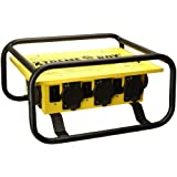 Coleman Cable 01962-3R-02 Temporary Power Distribution Box, 50 Amp 125/250V