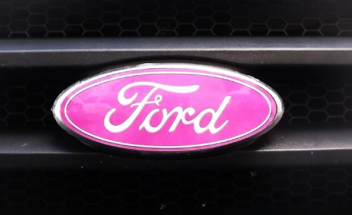 Ford Edge Pink Grill Emblem Decal Vinyl Overlay Covers Stock Emblem Fits