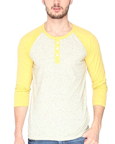 Campus-Sutra-Men-cotton-Plain-Round-Neck-Full-Sleeve-Henley-T-Shirt-Cream