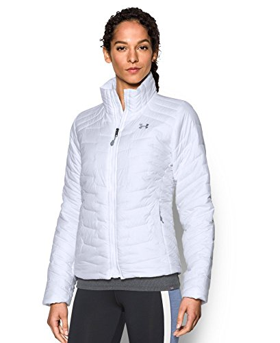 Under Armour Women's ColdGear Reactor Jacket, White (100), Small