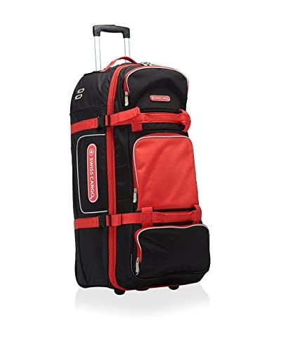 Swiss Cargo 34 Trulite Wheeled Duffel, Black/Red