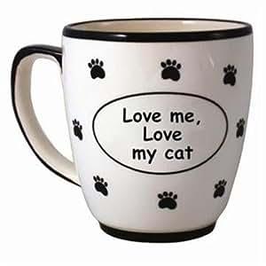 Tumbleweed 'Love me, love my cat' Pet Coffee Mug: Amazon ...