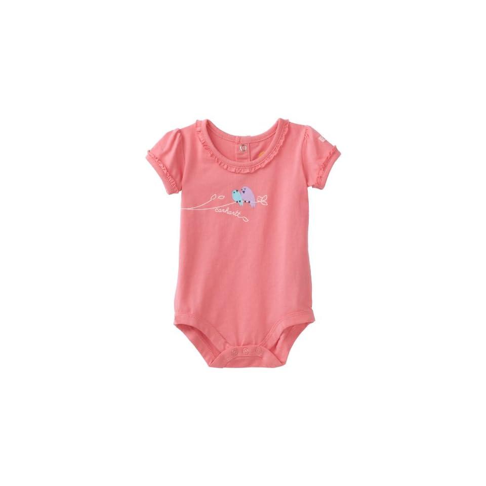 Carhartt Baby girls Infant Tiny Ruffle Sleeve Bodysuit, Confetti, 3 Months