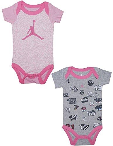 (Pack Of 2) Air Jordan By Michael Jordan Baby Girls One-Piece Romper 0-6M Multicolor front-328634