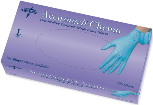 Accutouch Chemo Nitrile Exam Gloves,Blue,Large