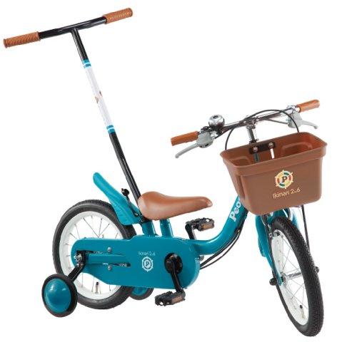 People(ピープル) いきなり自転車 2014年 ブリリアントカラー 14インチ [かじ取り式押し手棒付き、補助輪] ターコイズ YG254
