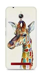 Amez designer printed 3d premium high quality back case cover for Asus Zenfone Go ZC500TG (Friendly Giraffe Colorful)