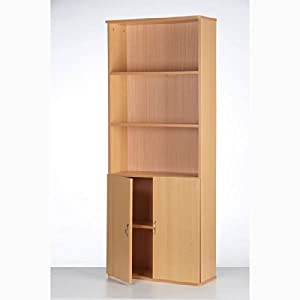 5 Tier Wooden Bookcase With Doors