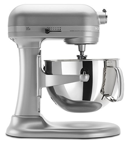 Review KitchenAid KP26M1XNP5 Professional 600 Series 6-Quart Stand Mixer, Nickel Pearl