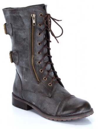 designer s ankle high brown combat boots lug