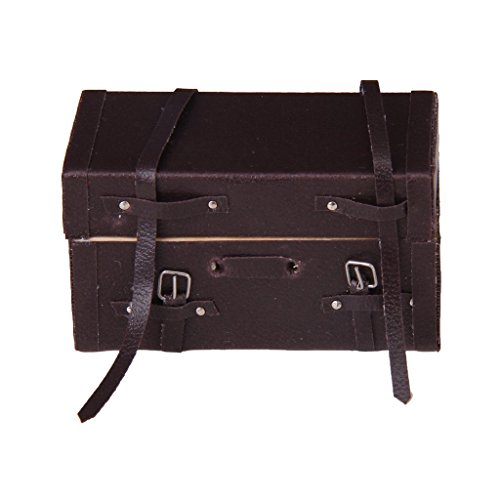 112-Puppenhaus-Miniatur-Durchfhrung-Vintage-Leder-Holz-Koffer-Gepck