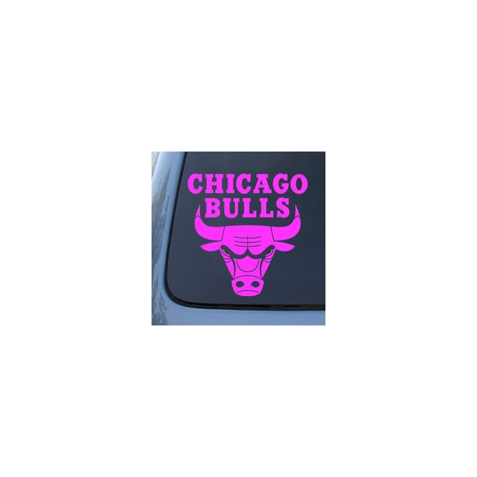 CHICAGO BULLS   Vinyl Decal Sticker #A1339  Vinyl Color Pink