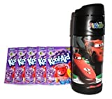Thermos Disney Cars RSN 12 oz Funtainer and 5 Packs of Grape Kool-Aid (Bundle)