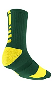 Nike Elite Men's Cushioned Crew Sock Dri-Fit Basketball Size L Green