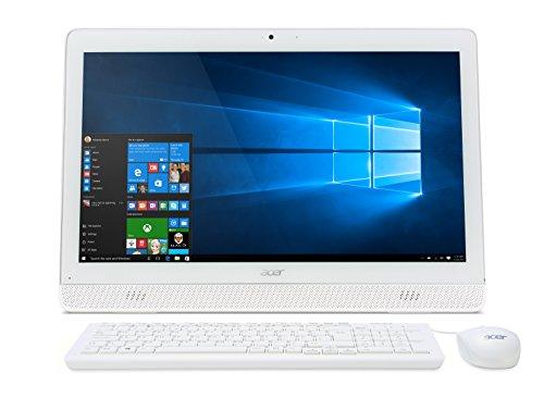 "Acer Aspire Z1-612 Desktop di Tipo All in One, Display da 19.5"" LCD, Processore Intel Celeron Quad-Core N3150, RAM 4GB, HDD da 500GB, Bianco"
