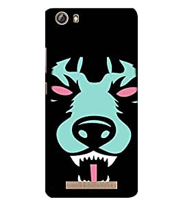 EPICCASE Scary Wolf Mobile Back Case Cover For Gionee Marathon M5 lite (Designer Case)