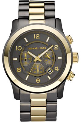 Michael Kors Men's Watch MK8160 With Black Dial And Two Tone Bracelet